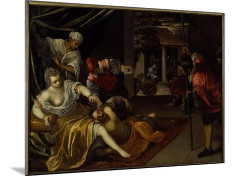 Samson and Delilah-Jacopo Robusti Tintoretto-Mounted Giclee Print
