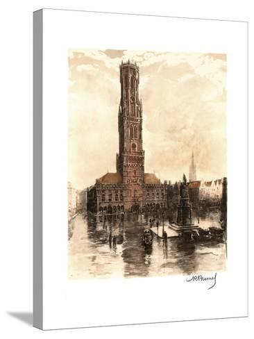The Belfry of Bruges, Belgium--Stretched Canvas Print
