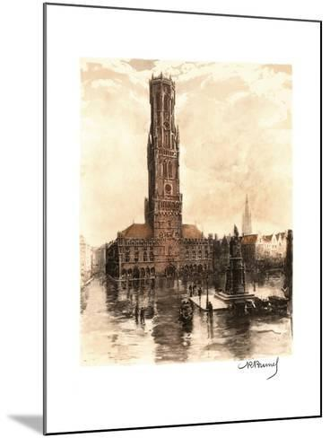 The Belfry of Bruges, Belgium--Mounted Giclee Print