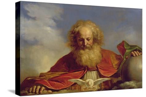 Padre Eterno-Guercino (Giovanni Francesco Barbieri)-Stretched Canvas Print