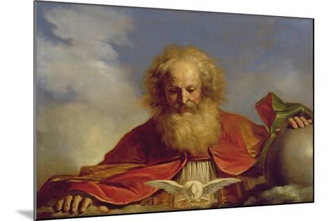 Padre Eterno-Guercino (Giovanni Francesco Barbieri)-Mounted Giclee Print