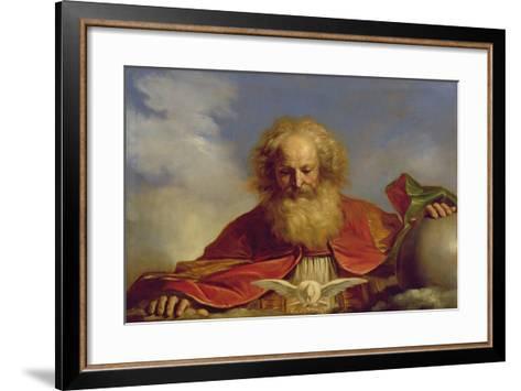 Padre Eterno-Guercino (Giovanni Francesco Barbieri)-Framed Art Print
