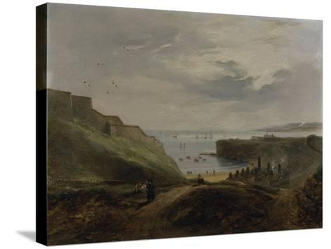 Prior's Haven, Tynemouth - Sunrise, 1845-John Wilson Carmichael-Stretched Canvas Print