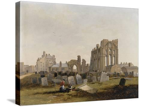 Tynemouth Priory from the East, 1845-John Wilson Carmichael-Stretched Canvas Print