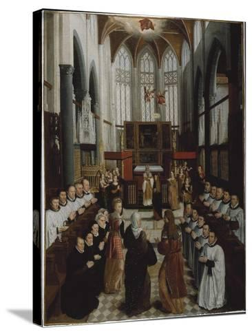 The Presentation of the Virgin in the Temple, C.1530-35-Pieter Claeissens-Stretched Canvas Print