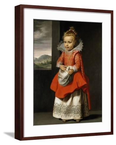 Portrait of the Artist's Daughter, Magdalena De Vos, C.1623-24-Cornelis de Vos-Framed Art Print