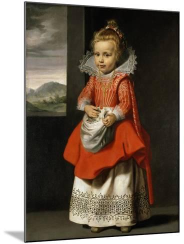 Portrait of the Artist's Daughter, Magdalena De Vos, C.1623-24-Cornelis de Vos-Mounted Giclee Print