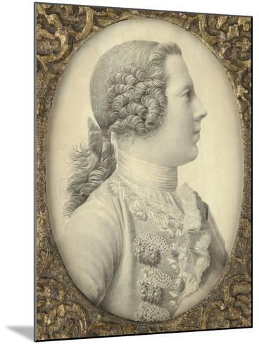 Portrait of Charles Edward Stuart, Bonnie Prince Charlie-Giles Hussey-Mounted Giclee Print