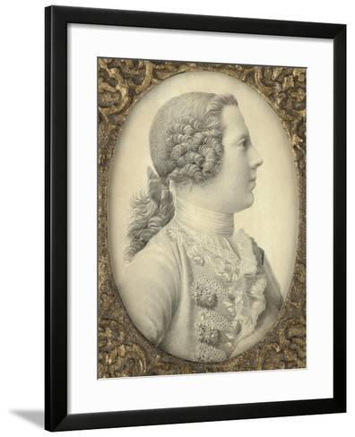 Portrait of Charles Edward Stuart, Bonnie Prince Charlie-Giles Hussey-Framed Art Print