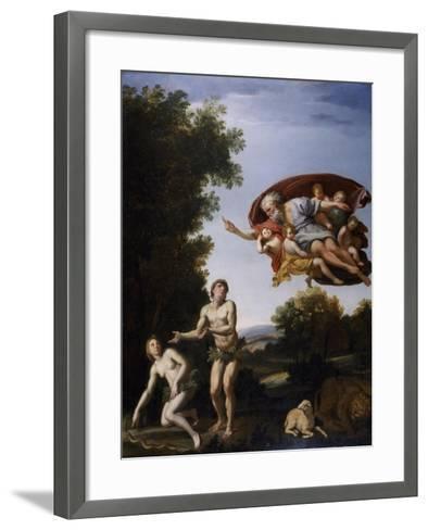 The Expulsion of Adam and Eve-Domenichino-Framed Art Print