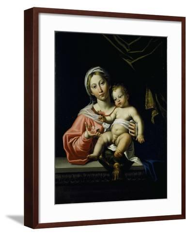 The Madonna Della Rosa, before 1627-Domenichino-Framed Art Print