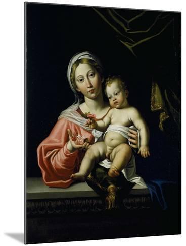 The Madonna Della Rosa, before 1627-Domenichino-Mounted Giclee Print