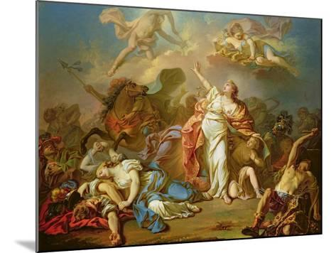 Apollo and Diana Attacking the Children of Niobe-Jacques-Louis David-Mounted Giclee Print