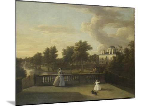 View of Chiswick Villa from a Balcony Above the Cascade with the Lake, 1742-George Lambert-Mounted Giclee Print