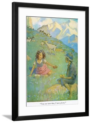 You Can Have That, I Have Plenty', Illustration from 'Heidi'-Jessie Willcox-Smith-Framed Art Print