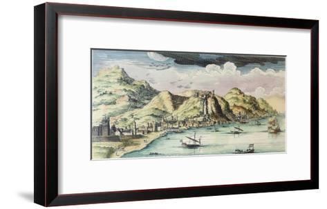 View of the City of Málaga, Spain-Spanish School-Framed Art Print