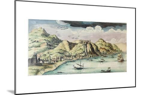 View of the City of Málaga, Spain-Spanish School-Mounted Giclee Print