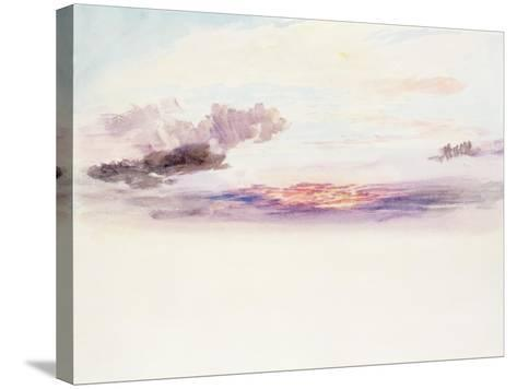 The Sky at Dawn-J^ M^ W^ Turner-Stretched Canvas Print