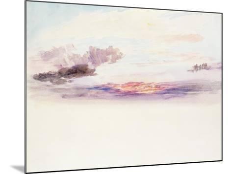 The Sky at Dawn-J^ M^ W^ Turner-Mounted Giclee Print