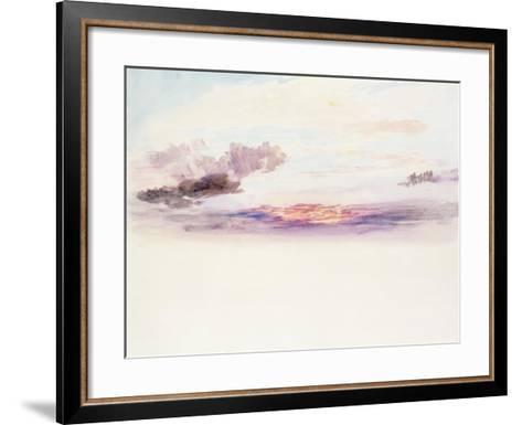 The Sky at Dawn-J^ M^ W^ Turner-Framed Art Print