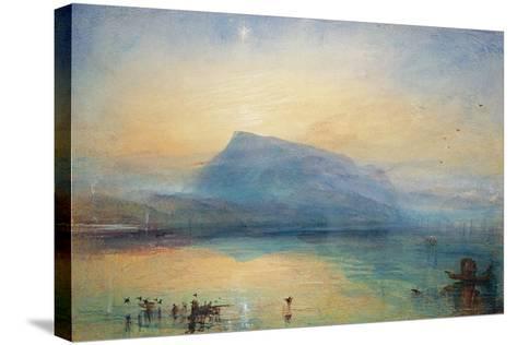 The Blue Rigi: Lake of Lucerne - Sunrise, 1842-J^ M^ W^ Turner-Stretched Canvas Print