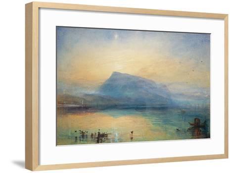 The Blue Rigi: Lake of Lucerne - Sunrise, 1842-J^ M^ W^ Turner-Framed Art Print