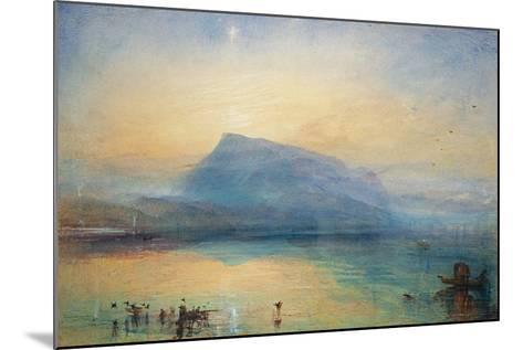The Blue Rigi: Lake of Lucerne - Sunrise, 1842-J^ M^ W^ Turner-Mounted Giclee Print