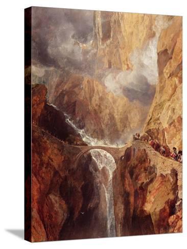 The Devil's Bridge-J^ M^ W^ Turner-Stretched Canvas Print