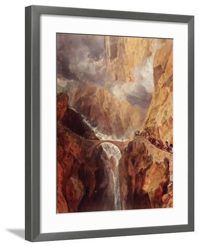 The Devil's Bridge-J^ M^ W^ Turner-Framed Art Print
