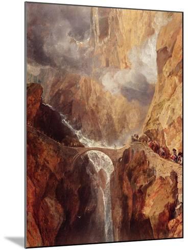 The Devil's Bridge-J^ M^ W^ Turner-Mounted Giclee Print