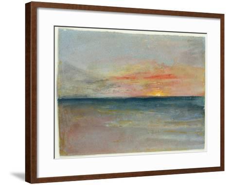 Sky Study-J^ M^ W^ Turner-Framed Art Print