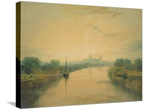 On the River Ouse-J^ M^ W^ Turner-Stretched Canvas Print