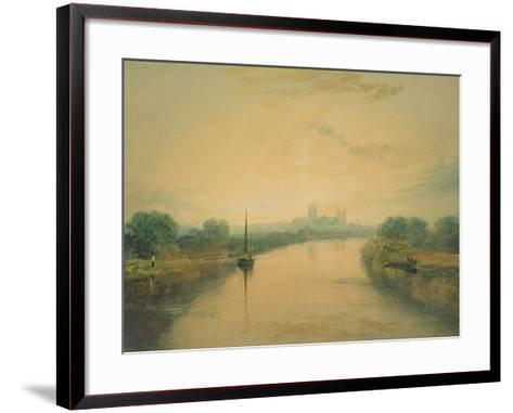 On the River Ouse-J^ M^ W^ Turner-Framed Art Print
