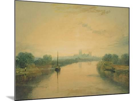 On the River Ouse-J^ M^ W^ Turner-Mounted Giclee Print