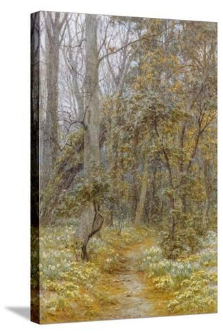 In the Garden-Helen Allingham-Stretched Canvas Print