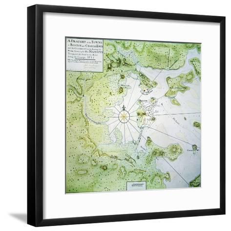 Map of Boston and Charlestown, 1775-John Montresor-Framed Art Print