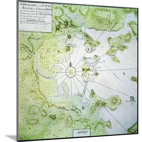 Map of Boston and Charlestown, 1775-John Montresor-Mounted Giclee Print