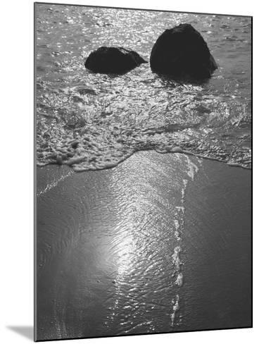 Rock in Sea Water View around Mumbai and Porbandar Area of Gujarat--Mounted Photographic Print