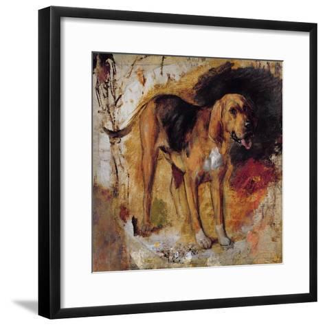 A Study of a Bloodhound, 1848-William Holman Hunt-Framed Art Print