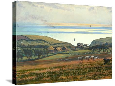 Fairlight Downs, Sunlight on the Sea-William Holman Hunt-Stretched Canvas Print