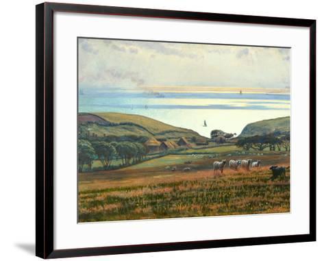 Fairlight Downs, Sunlight on the Sea-William Holman Hunt-Framed Art Print