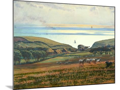 Fairlight Downs, Sunlight on the Sea-William Holman Hunt-Mounted Giclee Print