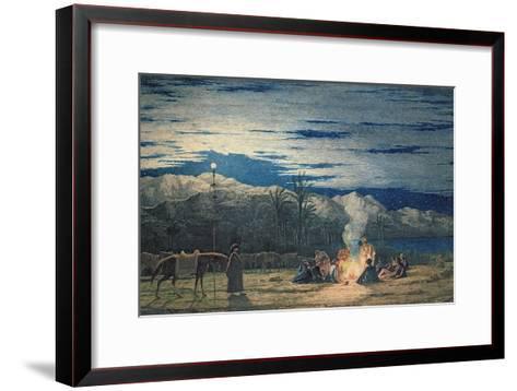 Artist's Halt in the Desert by Moonlight, C.1845-Richard Dadd-Framed Art Print