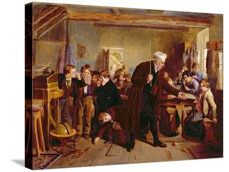 The Village School, 1857-William Henry Knight-Stretched Canvas Print
