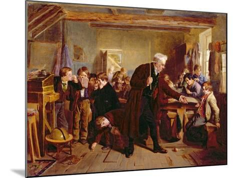 The Village School, 1857-William Henry Knight-Mounted Giclee Print