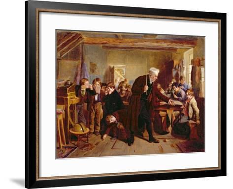 The Village School, 1857-William Henry Knight-Framed Art Print