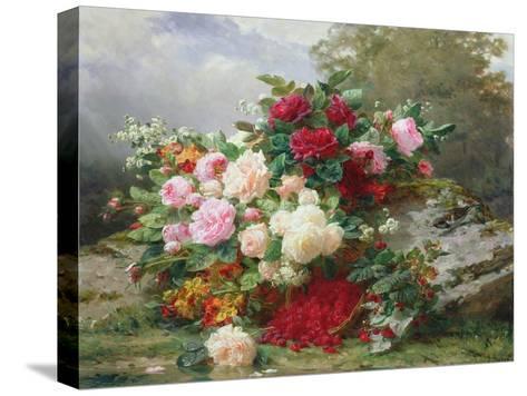 Autumn Flowers-Jean Baptiste Claude Robie-Stretched Canvas Print