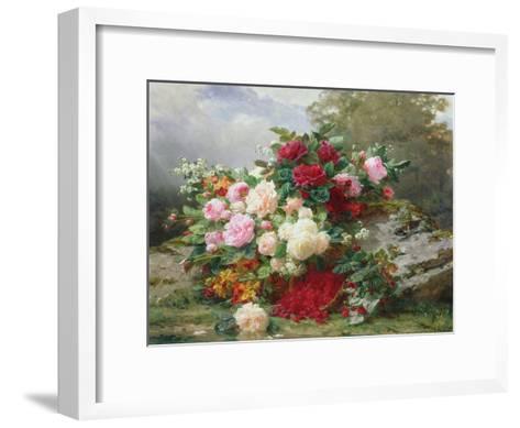Autumn Flowers-Jean Baptiste Claude Robie-Framed Art Print