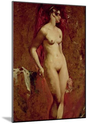 Nude Female Standing-William Etty-Mounted Giclee Print