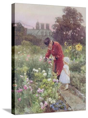 Grandad's Garden-Rose Maynard Barton-Stretched Canvas Print